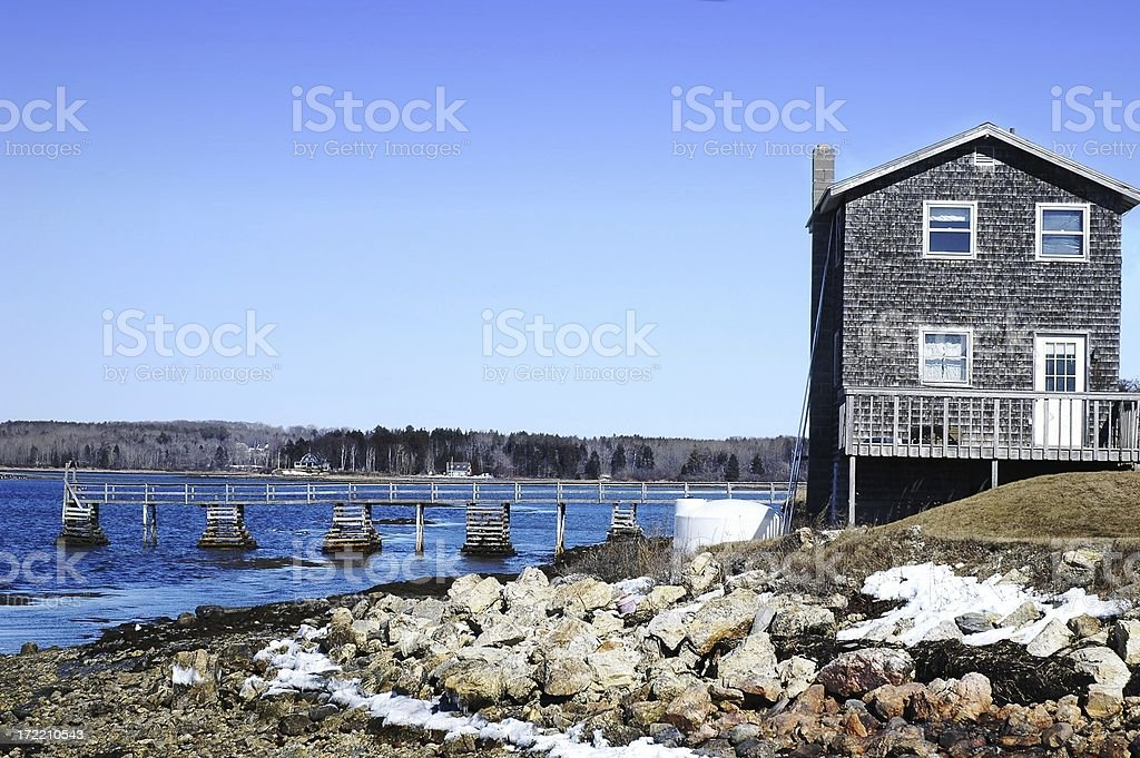 Home on the ocean royalty-free stock photo