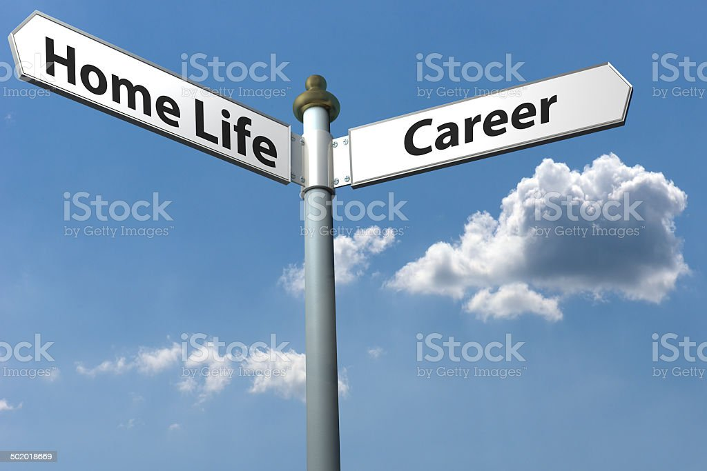 home or career stock photo