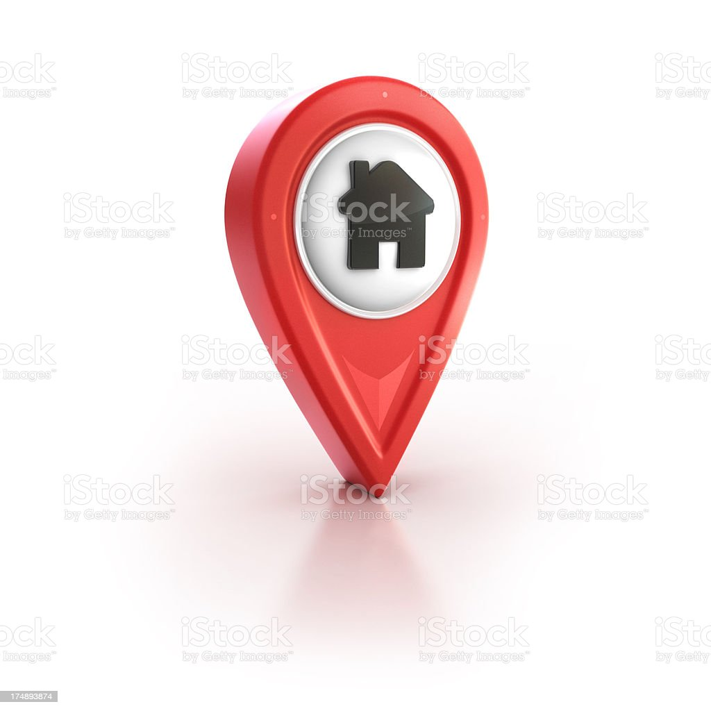Home or house location pin stock photo