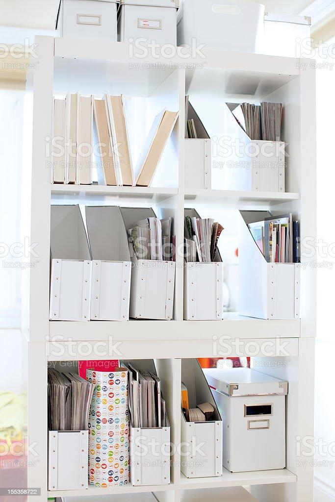 Home organization stock photo