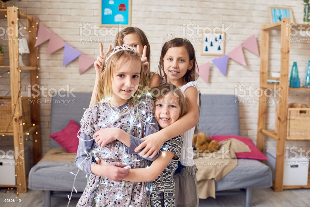 Home party stock photo