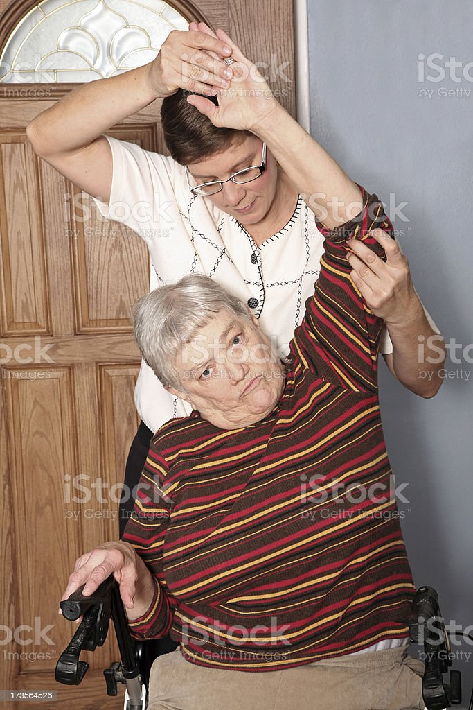 Home physical therapy royalty-free stock photo
