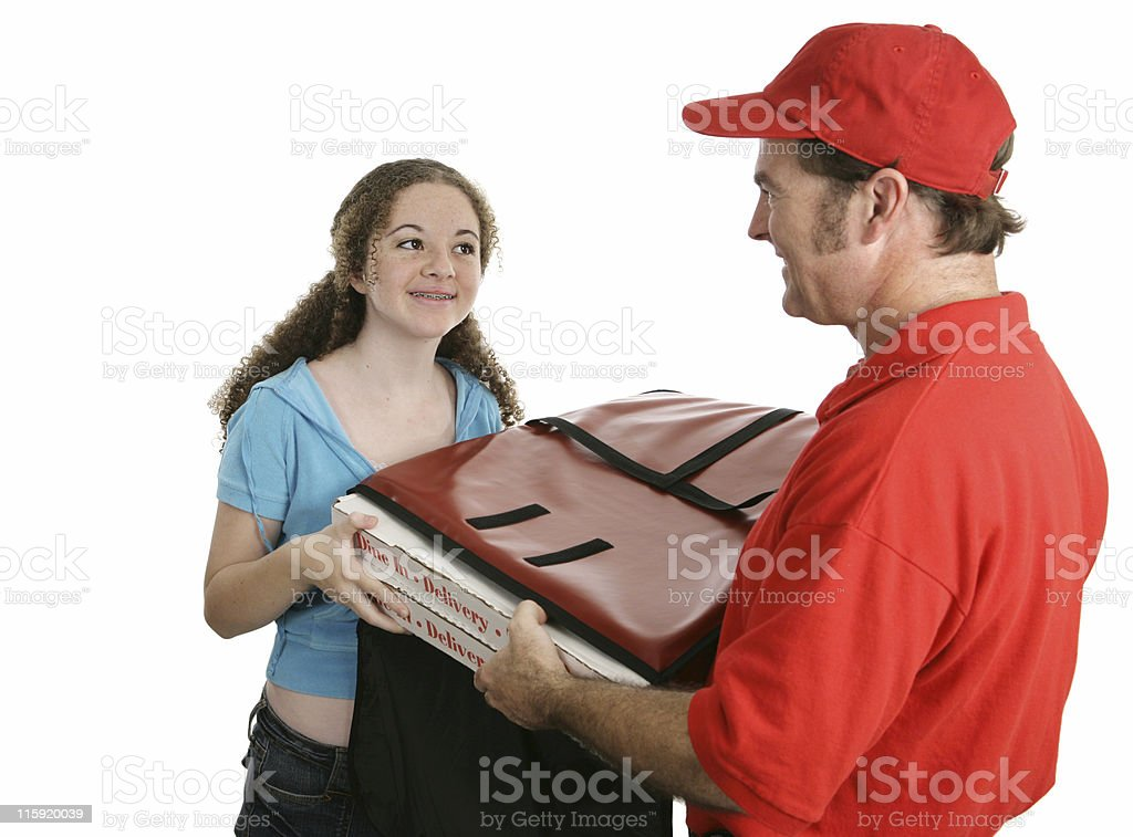 Home Pizza Delivery royalty-free stock photo