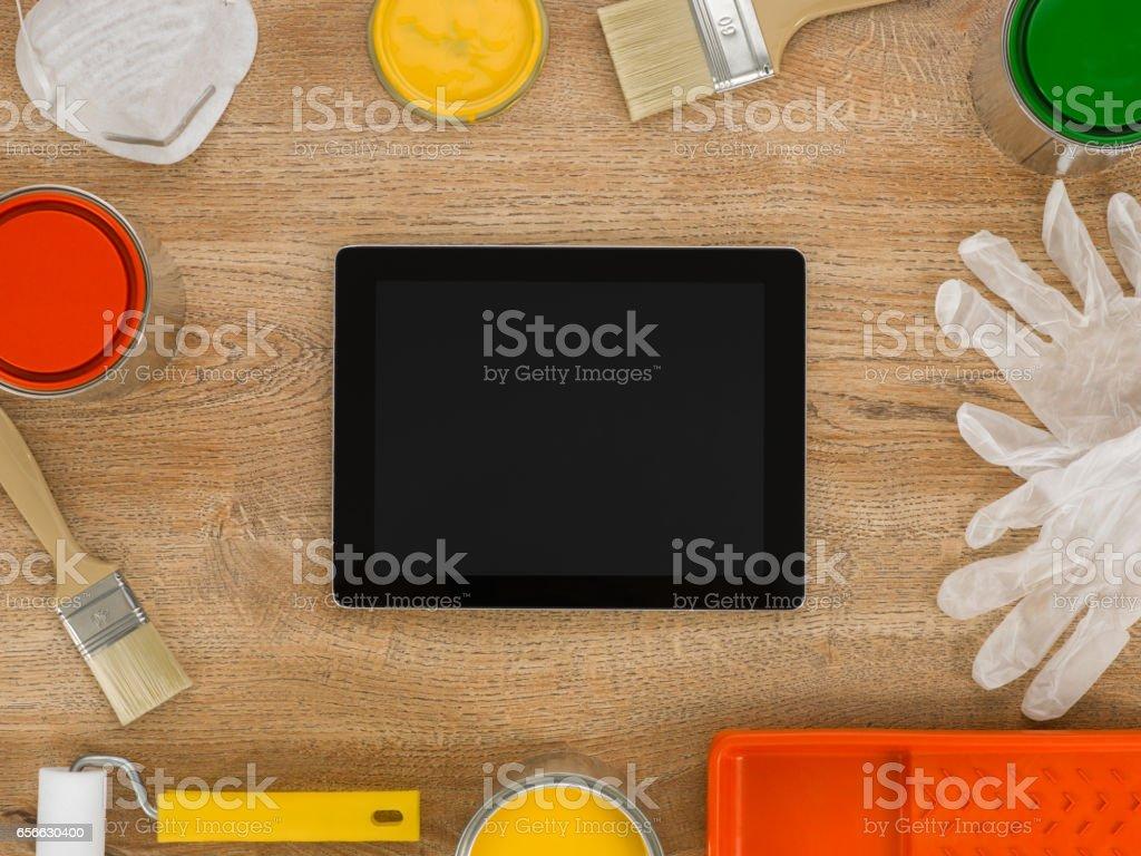 home plan app stock photo