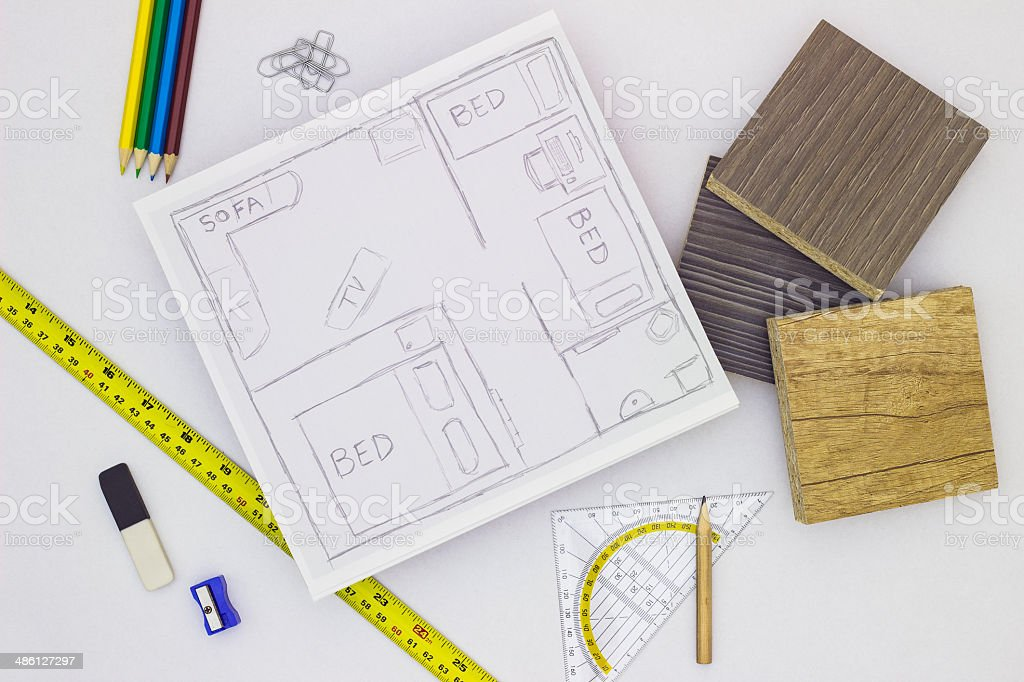 Home planing stock photo