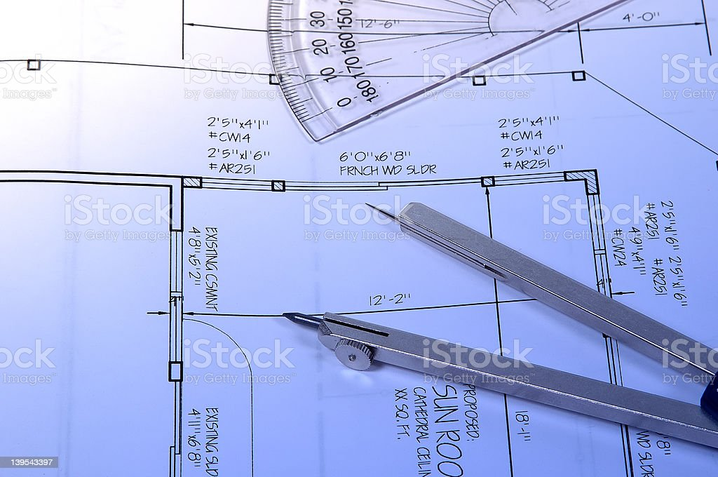 Home Plans royalty-free stock photo