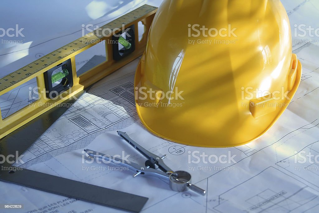 Home plans stock photo