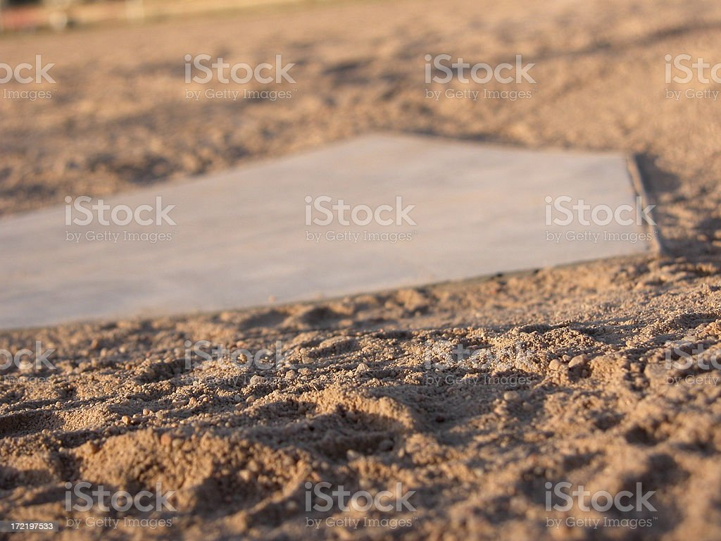 Home Plate Close Up royalty-free stock photo