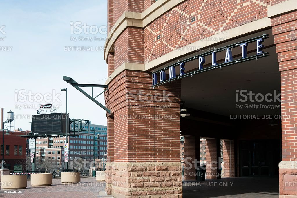 Home Plate, Coors Field, Colorado Rockies stock photo