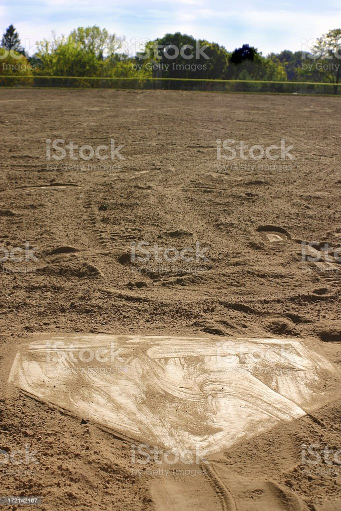 Home Plate royalty-free stock photo