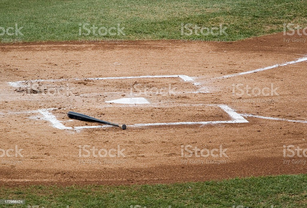 home plate with bat royalty-free stock photo