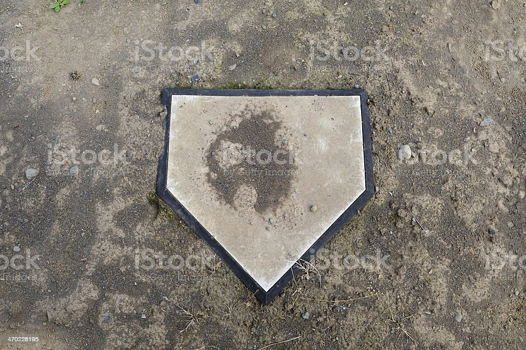 Home Plate with Dirt stock photo
