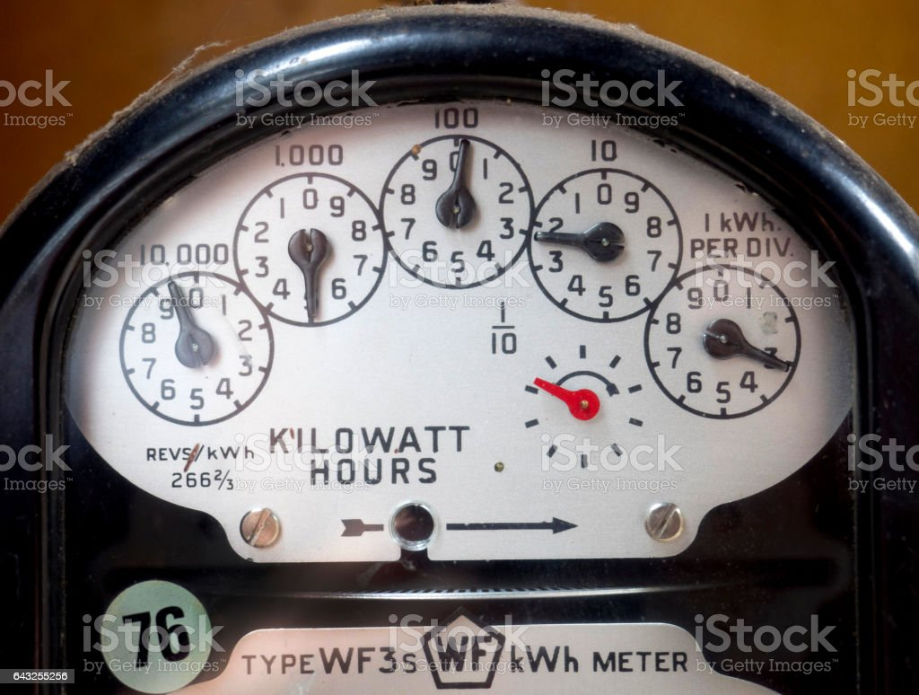 Home power meter stock photo