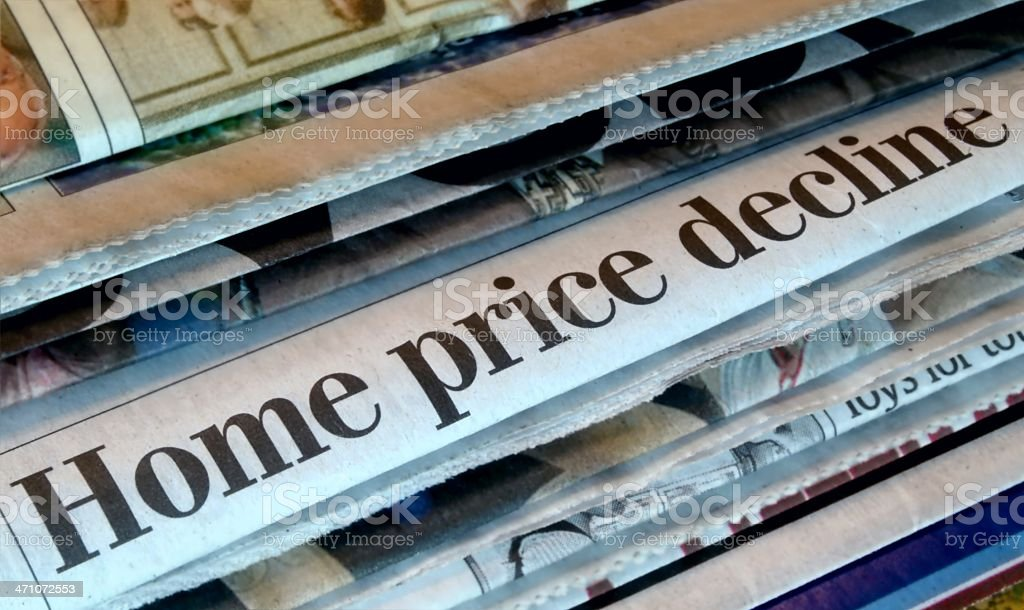 Home Price Decline royalty-free stock photo