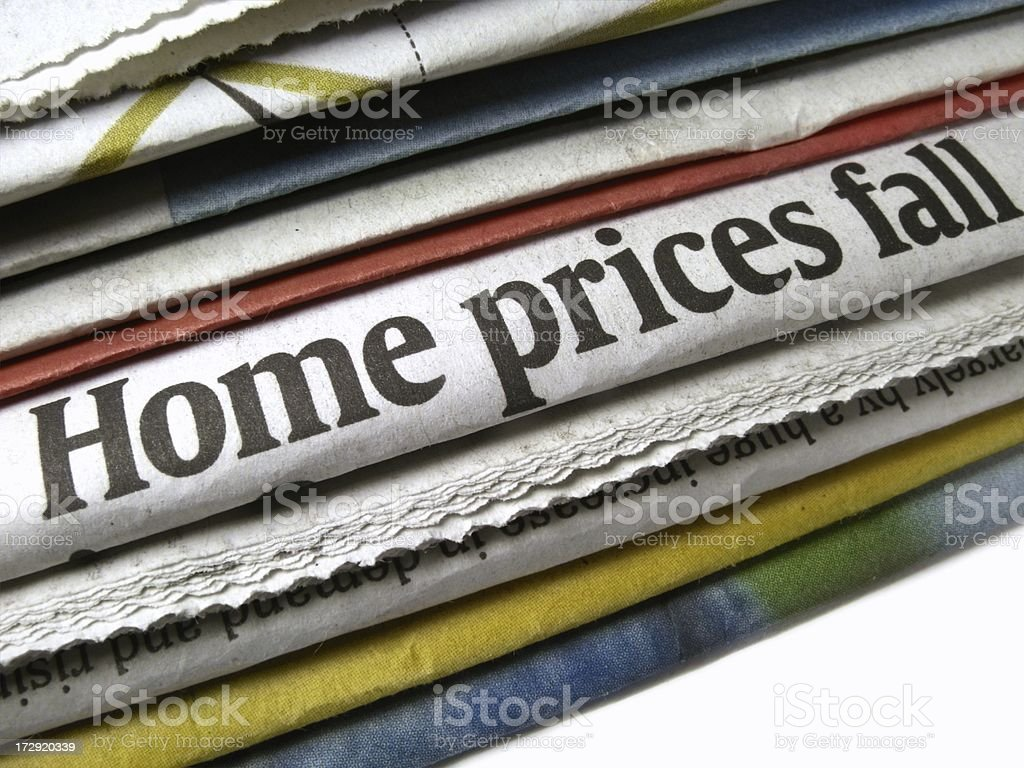 Home Prices Fall stock photo