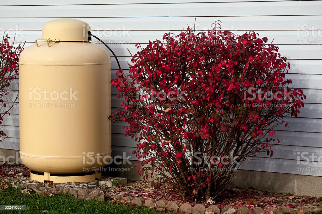 Home Propane Tank stock photo
