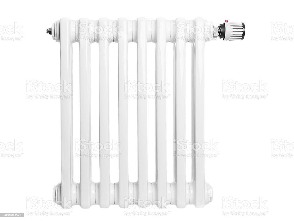 Home radiator isolated on white stock photo