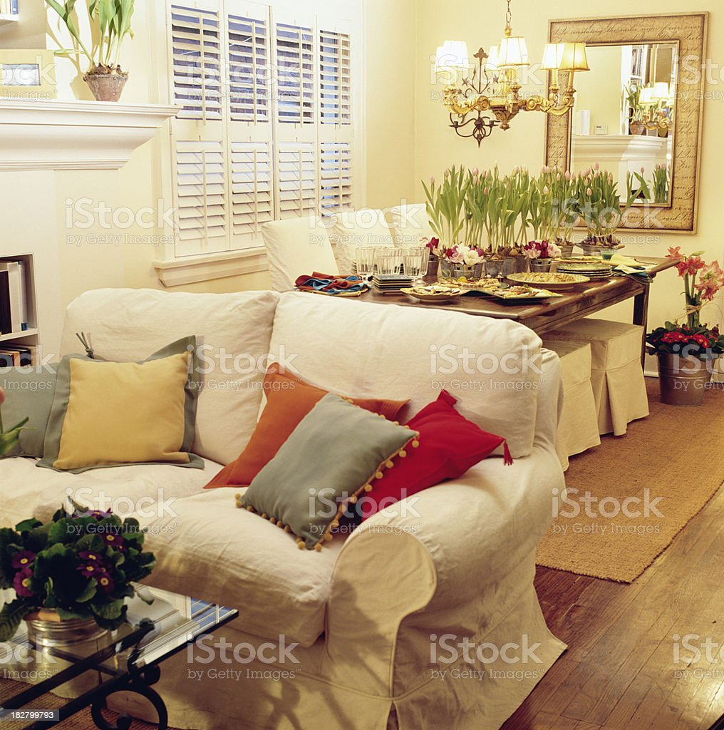 home ready for dinner party royalty-free stock photo