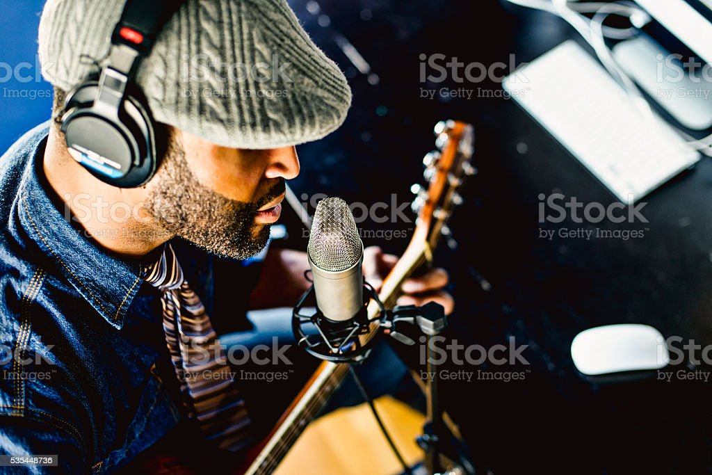 Home Recording Musician Series stock photo