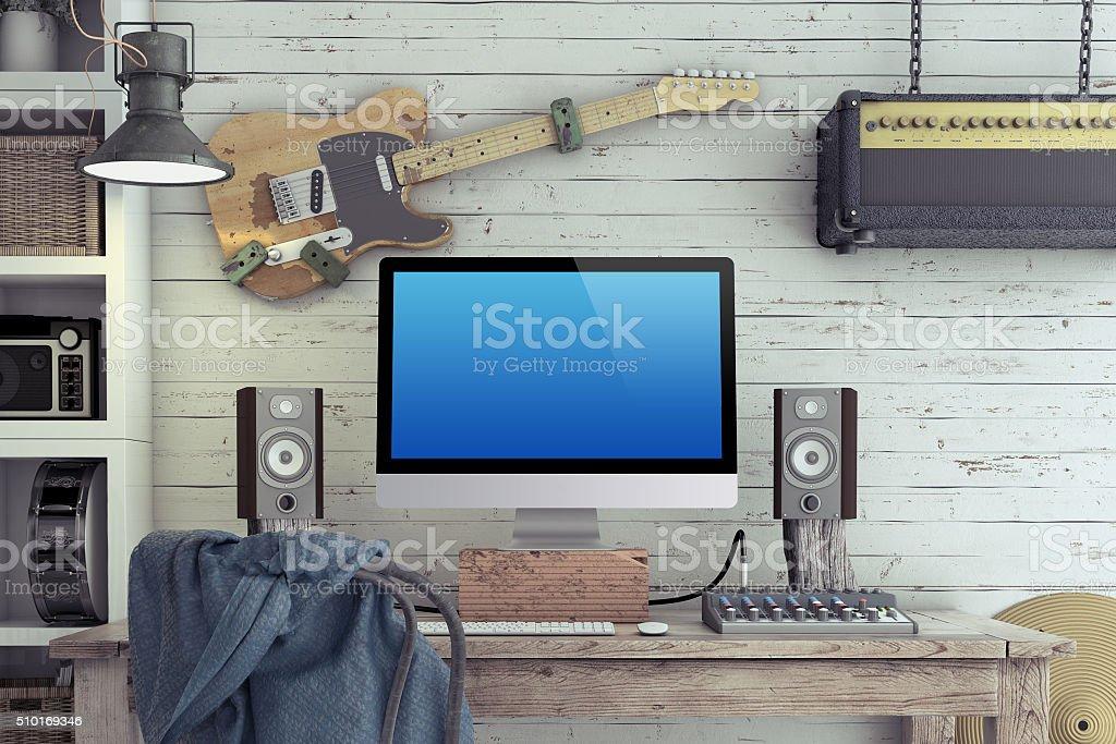 Home Recording Studio stock photo