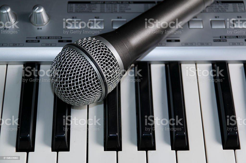 Home recording studio. stock photo