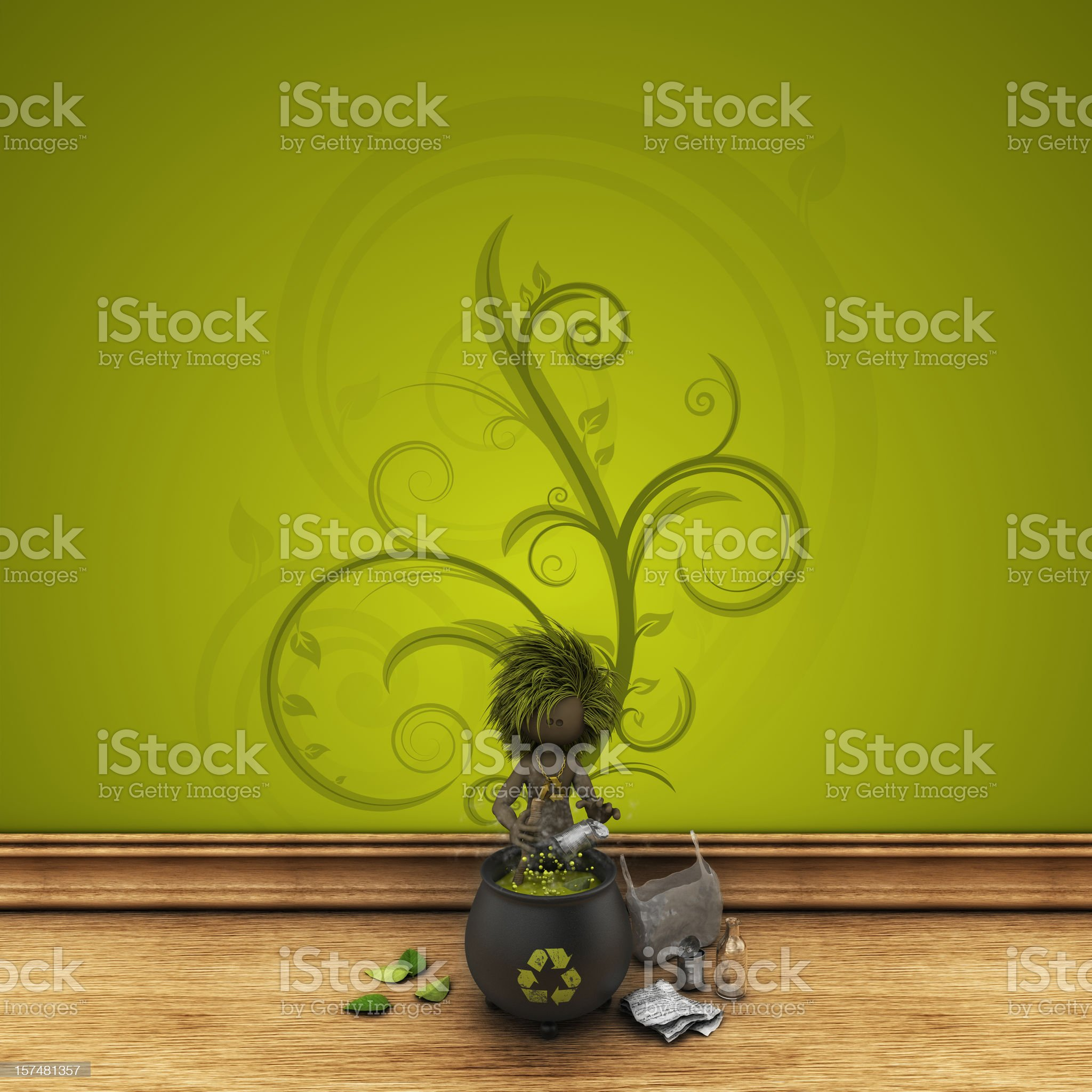 home recycling process royalty-free stock vector art