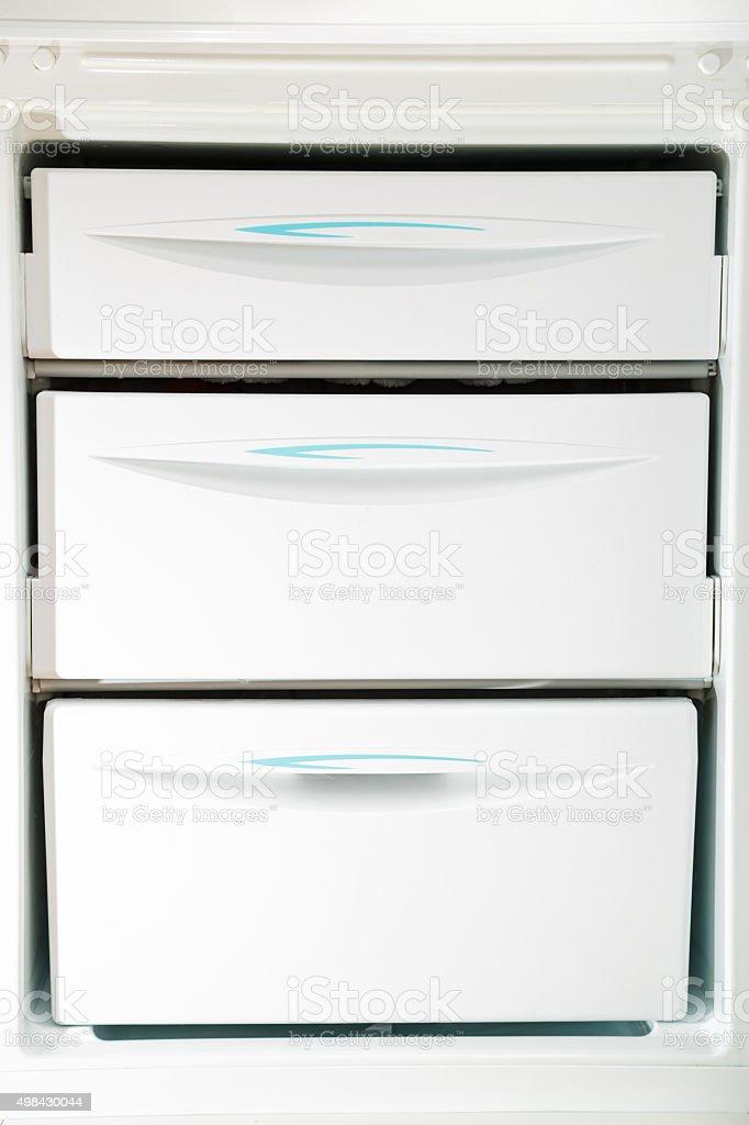 Home refrigerator stock photo
