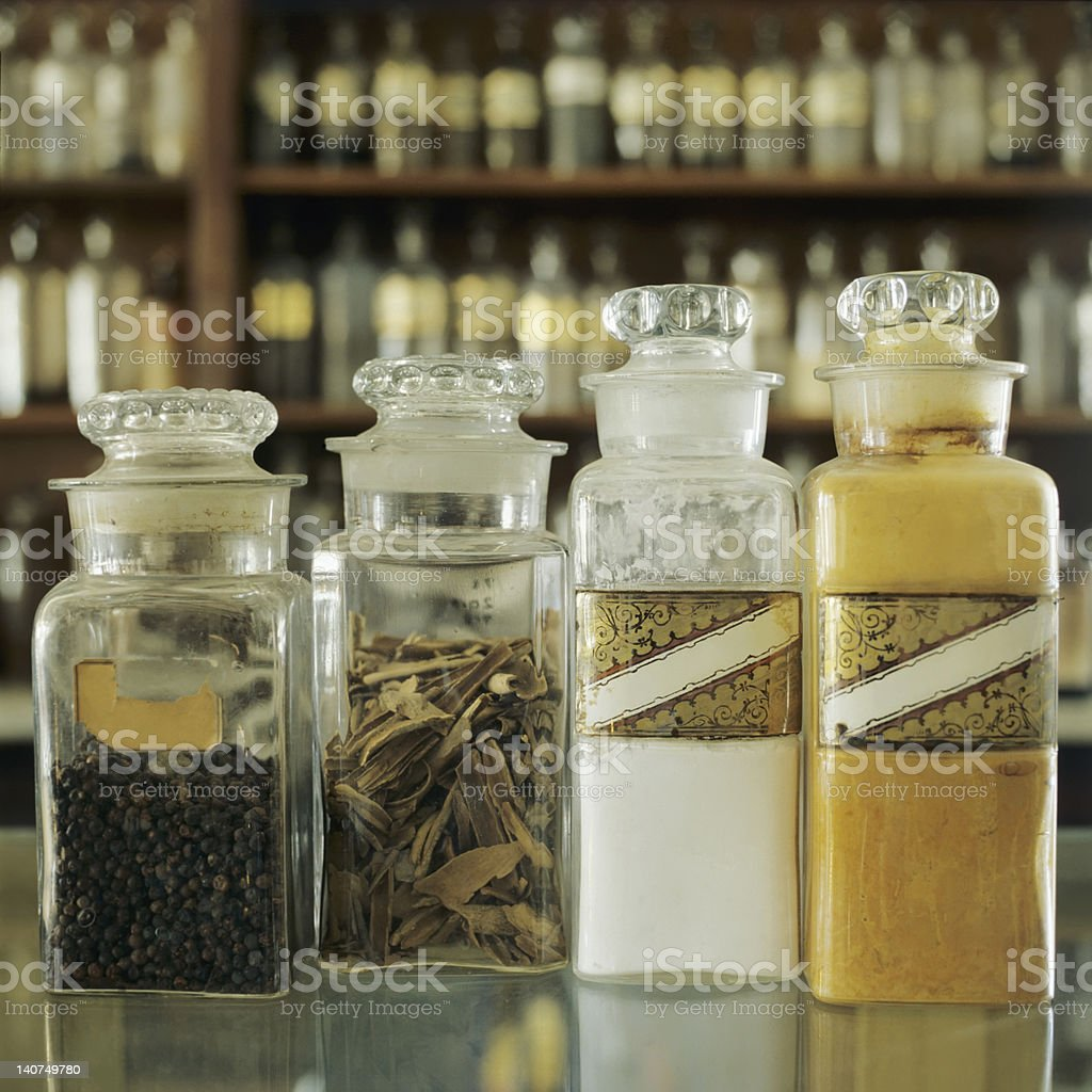 Home Remedies Alternative Medicines Herbs royalty-free stock photo