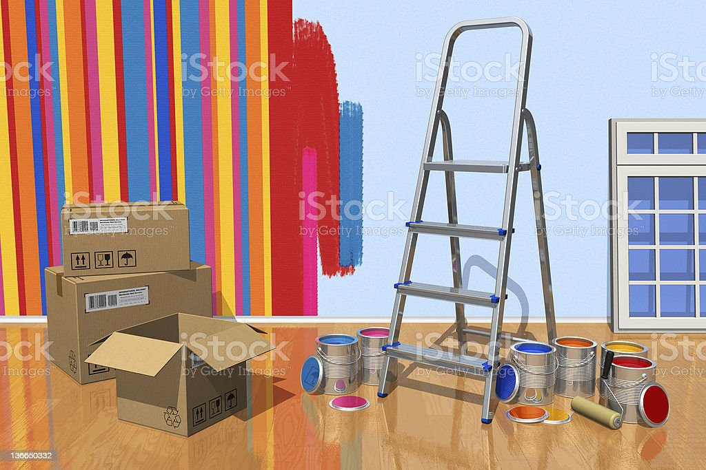 Home renovation concept royalty-free stock photo