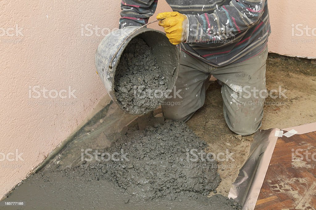Home renovation, concrete royalty-free stock photo