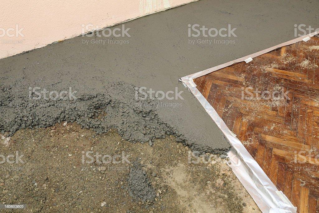 Home renovation, concrete royalty-free stock photo