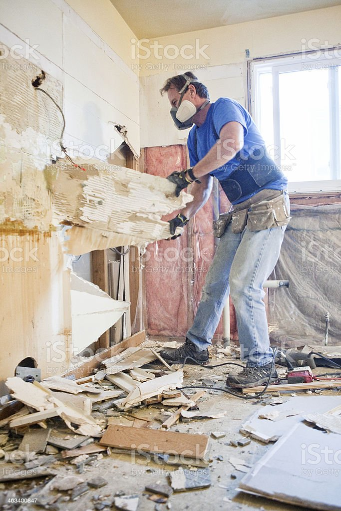 Home Renovations - Tear Out stock photo