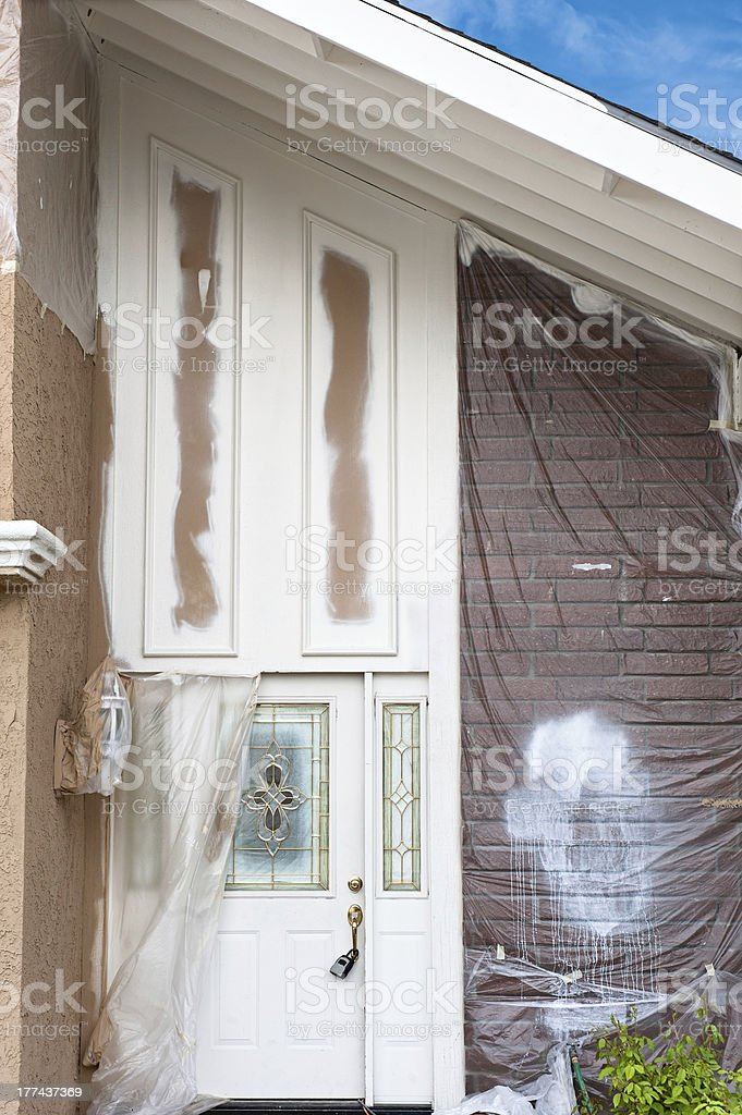 Home repainting royalty-free stock photo