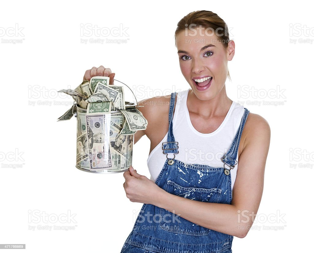 Home repair and savings concept royalty-free stock photo