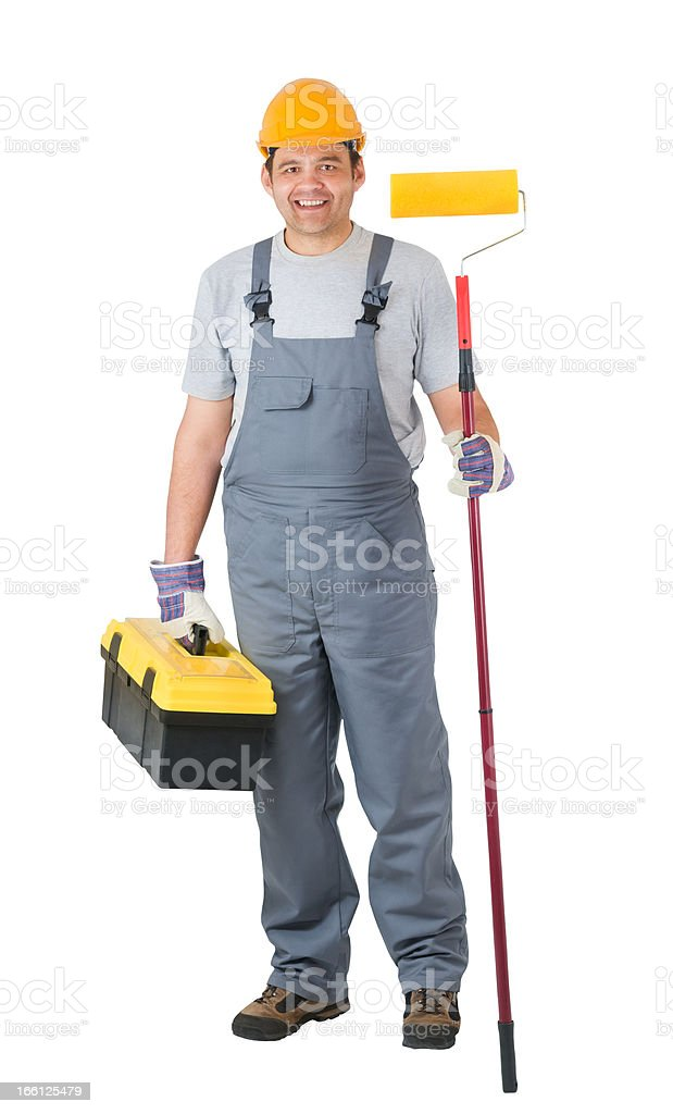 Home repair man isolated royalty-free stock photo