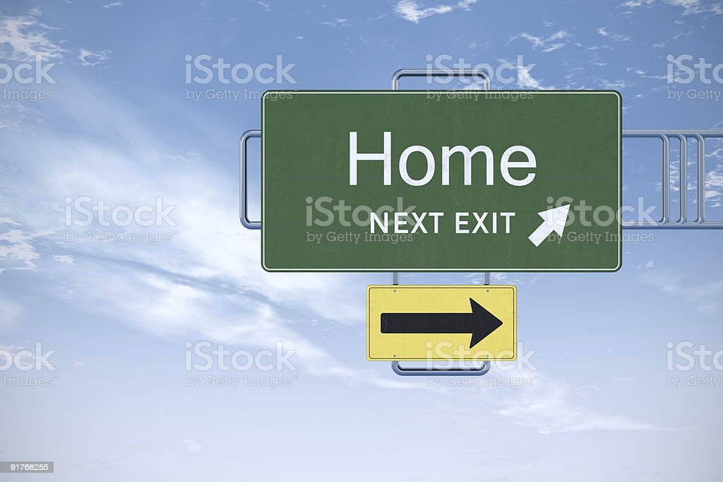 Home road sign. royalty-free stock vector art