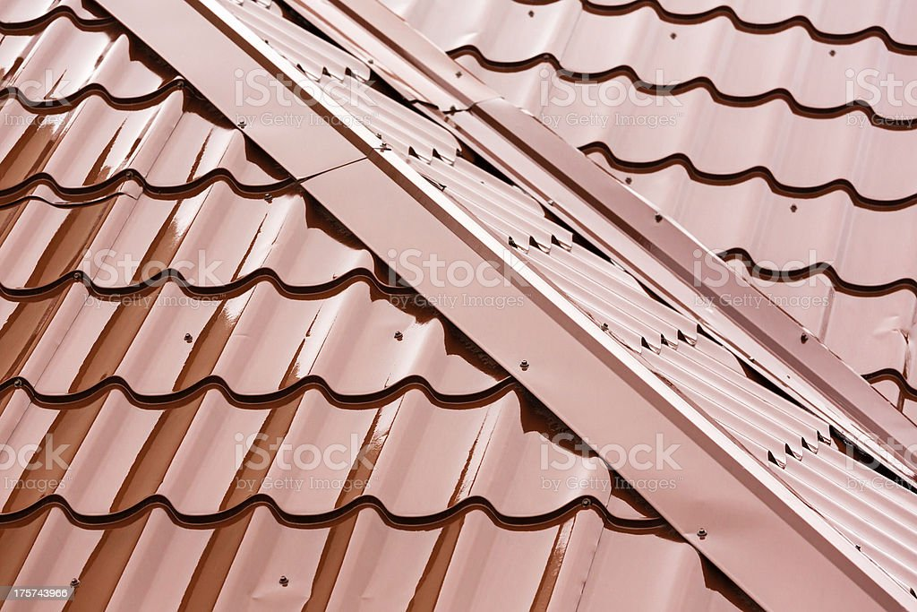 Home roof detail stock photo
