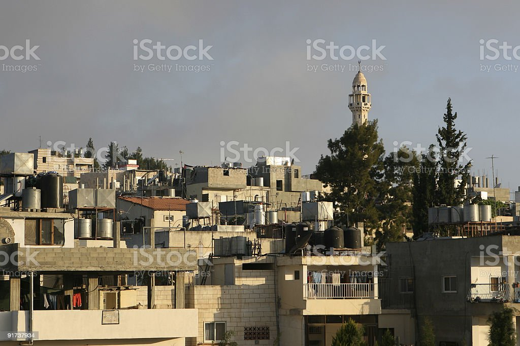 Home Rooftops In Bethlehem, Israel royalty-free stock photo