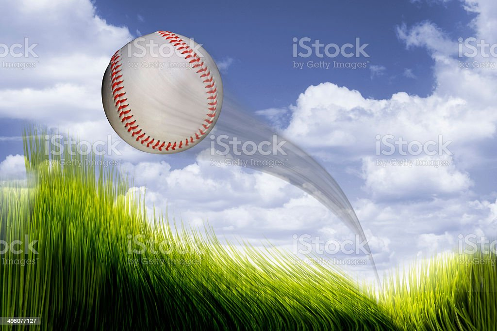 Home Run Baseball. stock photo