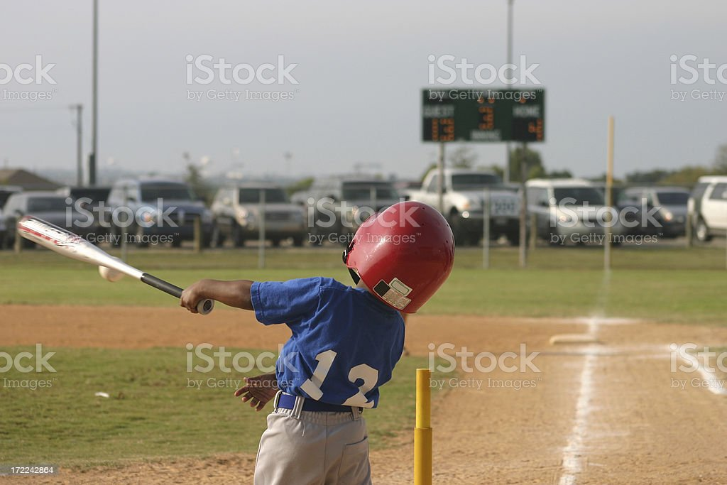 Home Run Swing royalty-free stock photo