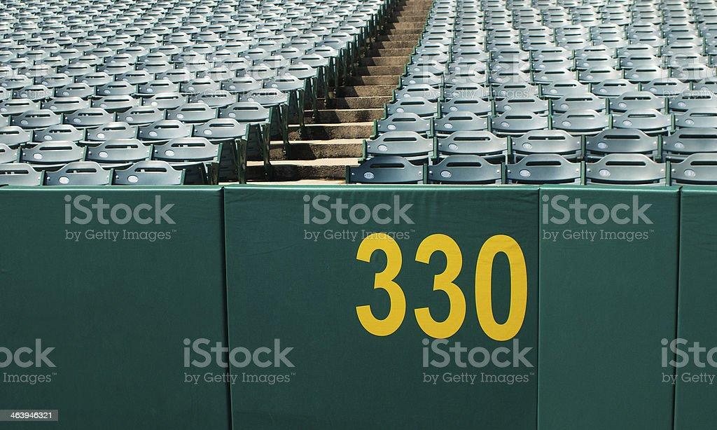 Home Run Wall stock photo