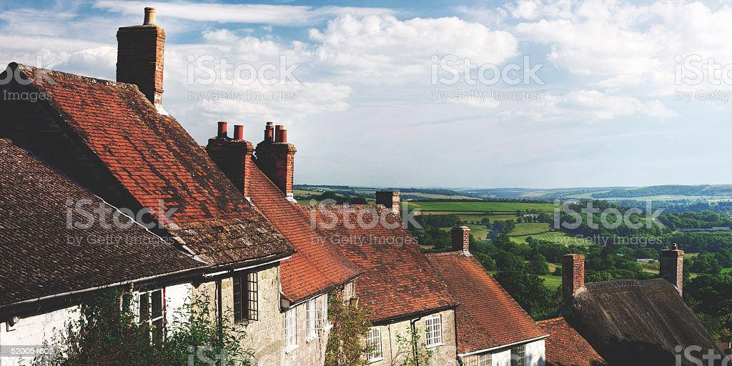 Home Rural Scene House British Culture Destination Travel Concep stock photo