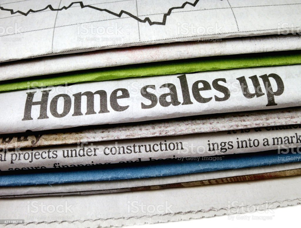 Home Sales Up Headline royalty-free stock photo