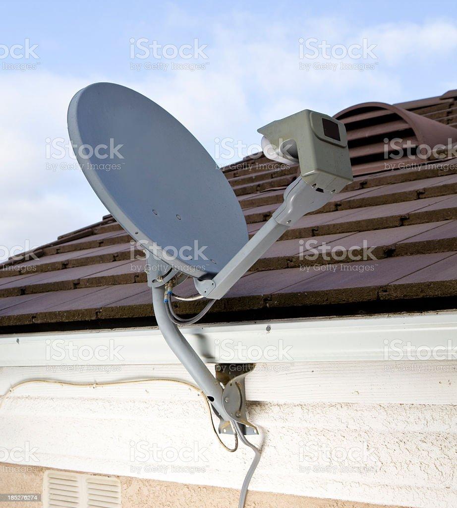 Home Satellite Dish stock photo