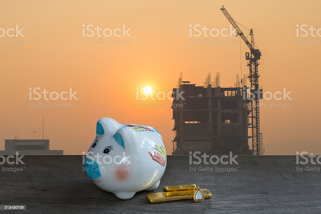 home savings, loans market concept stock photo