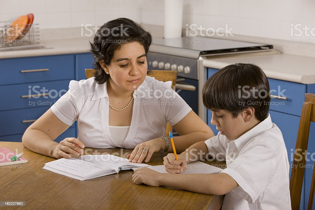 Home Schooling royalty-free stock photo
