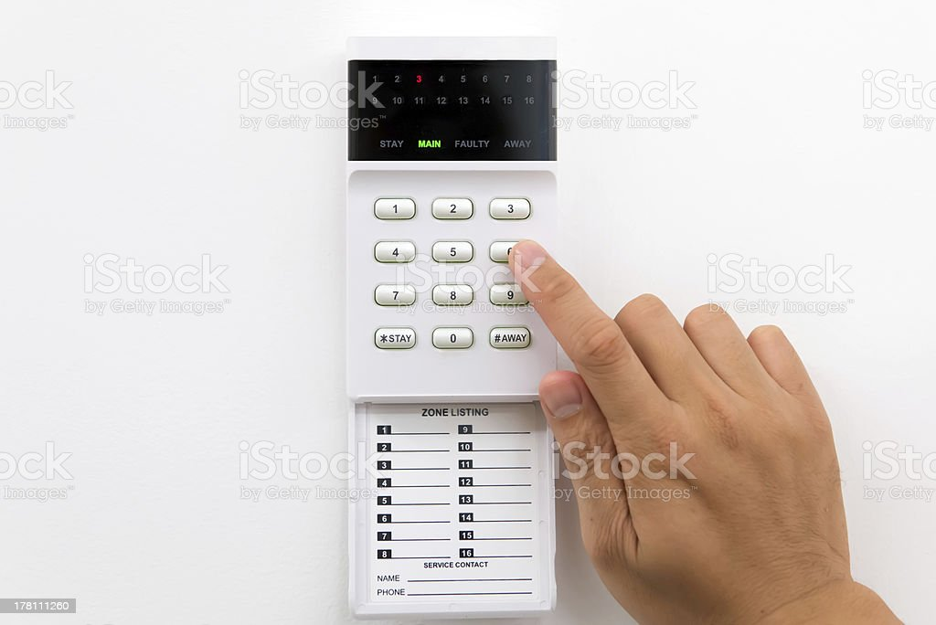 Home security alarm stock photo