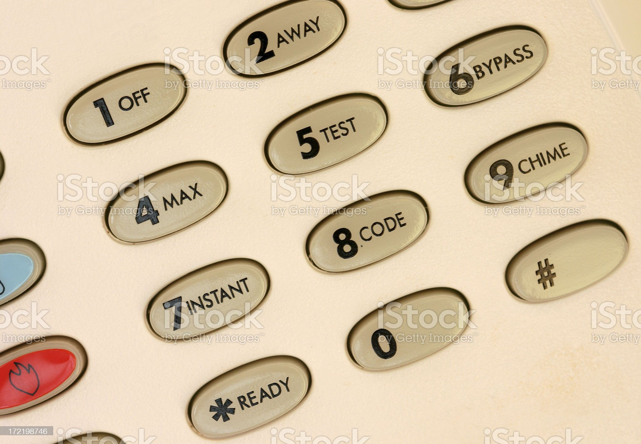 Home Security Keypad royalty-free stock photo
