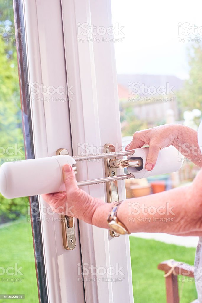 Home security lock stock photo