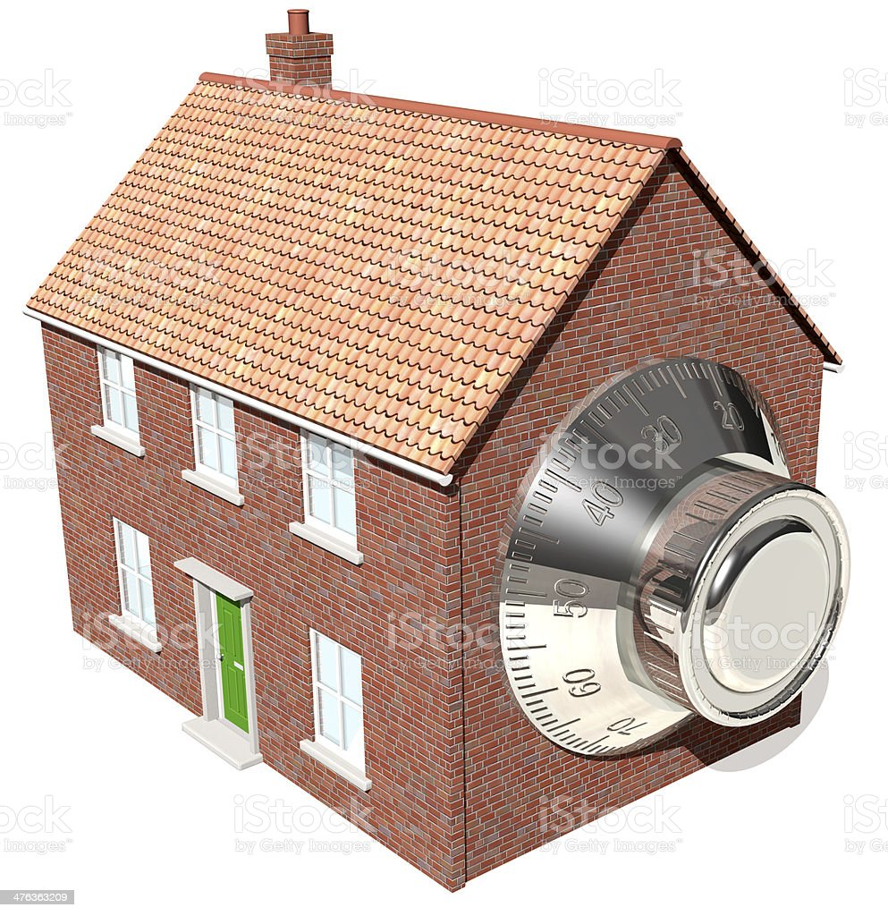 Home security, safeguard possessions royalty-free stock photo